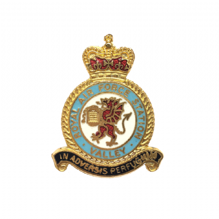 Royal Air Force RAF Station Valley Lapel Badge